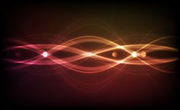 Fundo abstrato do vetor - luzes transparentes Imagens de Stock