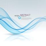 Fundo abstrato do vetor, ondulado azul Fotos de Stock Royalty Free