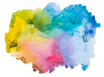 Fundo abstrato do Watercolour ilustração stock
