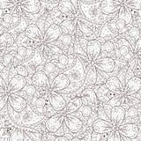 Fundo abstrato do zentangle com flores e paisley Imagens de Stock