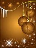 Fundo abstrato dos baubles do Natal do ouro ilustração royalty free