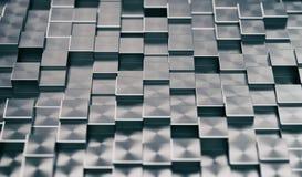 Fundo abstrato dos blocos metálicos ilustração do vetor