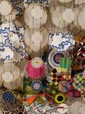 Fundo abstrato dos círculos vívidos coloridos foto de stock
