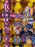 Fundo abstrato dos círculos vívidos coloridos foto de stock royalty free
