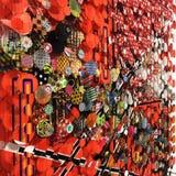 Fundo abstrato dos círculos vívidos coloridos imagens de stock