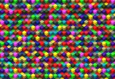 Fundo abstrato dos cubos multicoloridos Imagens de Stock