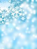 Fundo abstrato dos flocos de neve do inverno Imagens de Stock