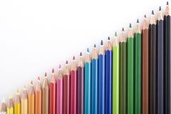Fundo abstrato dos lápis da cor Foto de Stock Royalty Free