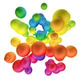 Fundo abstrato dos metaballs coloridos do inclinação ilustração do vetor