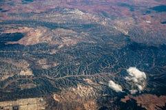 Fundo abstrato dos montes verdes Fotos de Stock