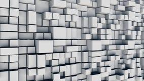 Fundo abstrato dos quadrados brancos Fotos de Stock Royalty Free