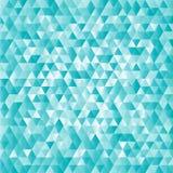 Fundo abstrato dos triângulos de turquesa Foto de Stock
