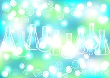 Fundo abstrato dos tubos de ensaio da extremidade da molécula Fotos de Stock Royalty Free