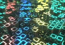 Fundo abstrato dos tubos metálicos Imagem de Stock