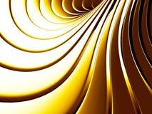 Fundo abstrato dourado da espiral da listra ilustração royalty free