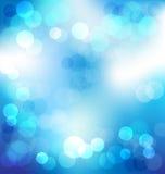 Fundo abstrato elegante azul com luzes do bokeh Imagem de Stock Royalty Free