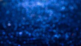 Fundo abstrato elegante azul do bokeh Foto de Stock