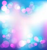 Fundo abstrato elegante colorido com luzes do bokeh Imagens de Stock Royalty Free