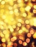 Fundo abstrato elegante do Natal com luzes e estrela do bokeh fotografia de stock