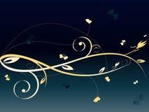 Fundo abstrato escuro floral Imagens de Stock Royalty Free