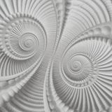 Fundo abstrato espiral moldando do teste padrão do fractal do plasterwork do estuque branco Elementos espirais abstratos do fundo Imagem de Stock Royalty Free
