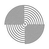 Fundo abstrato espiral Sulcos do vinil Ilustração do vetor ilustração do vetor