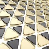 Fundo abstrato feito de triângulos lustrosos ilustração royalty free