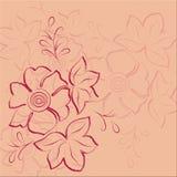 Fundo abstrato floral cor-de-rosa Imagens de Stock