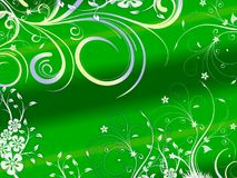 Fundo abstrato floral na cor verde ilustração stock