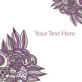Fundo abstrato floral tirado mão Fotos de Stock Royalty Free