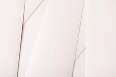 Fundo abstrato, folhas de papel brancas Imagens de Stock