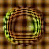 Fundo abstrato futurista ilustração do vetor 3d Superfície da urdidura distorção Imagens de Stock Royalty Free