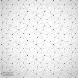 Fundo abstrato geométrico com linha e Dots Patterns conectados Fotos de Stock Royalty Free