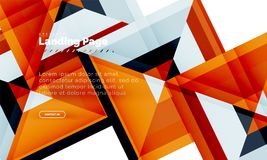 Fundo abstrato geométrico da forma quadrada, molde de aterrissagem do design web da página ilustração royalty free