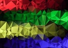 Fundo abstrato geométrico do triângulo colorido poligonal ilustração stock