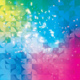 Fundo abstrato geométrico moderno do círculo colorido Foto de Stock Royalty Free