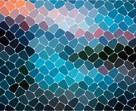Fundo abstrato geométrico moderno Papel de parede brilhante Textura geométrica Teste padrão colorido Conceito creativo Vetor Foto de Stock Royalty Free