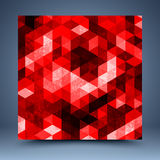 Fundo abstrato geométrico vermelho Fotos de Stock
