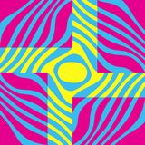Fundo abstrato gráfico Cores amarelas, azuis e cor-de-rosa ilustração stock