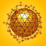 Fundo abstrato lapidado da estrutura da esfera ilustração do vetor