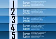 Fundo abstrato, linha de número azul, informação-gráficos, proibição do número Fotografia de Stock