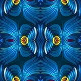 Fundo abstrato luxuoso floral sem emenda do azul 3d ilustração royalty free