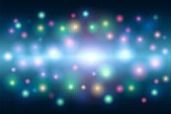 Fundo abstrato mágico brilhante colorido do mosaico dos pontos e um flash da luz ilustração royalty free