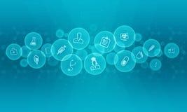 Fundo abstrato médico e da ciência ilustração stock