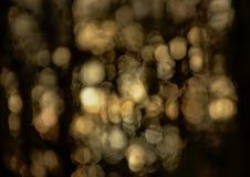 Fundo abstrato macio do bokeh com pálido - círculos claros amarelos fotografia de stock royalty free