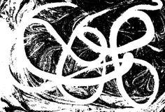 Fundo abstrato marmoreado preto e branco do vetor Teste padrão líquido Textura de Grunge Imagens de Stock