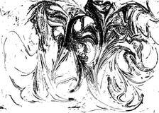 Fundo abstrato marmoreado preto e branco do vetor Teste padrão líquido Textura de Grunge Fotos de Stock Royalty Free