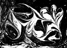 Fundo abstrato marmoreado preto e branco do vetor Teste padrão líquido Textura de Grunge Imagens de Stock Royalty Free