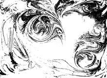 Fundo abstrato marmoreado preto e branco do vetor Teste padrão líquido Textura de Grunge Fotografia de Stock