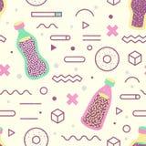 Fundo abstrato Memphis Style Geometric Imagem de Stock